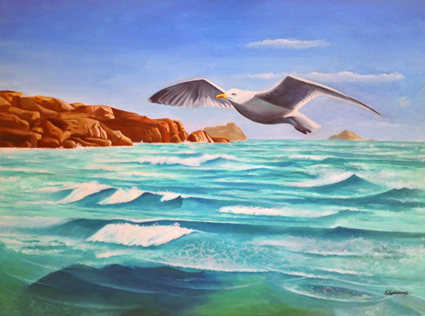 My wings make waves / Mes ailes font des vagues